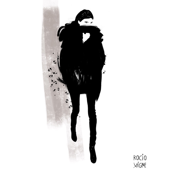 It's cold outside... fashion illustration by Rocío Vigne