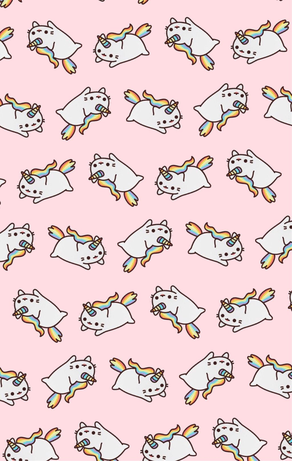 Caticorn Wallpaper I Made Haha Cat Unicorn Wallpaper