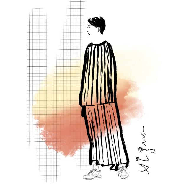 Fashion illustration by Rocio Vigne