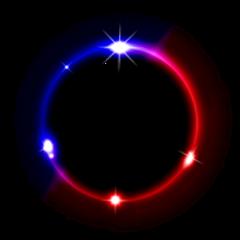 space galaxy neon background eclipse
