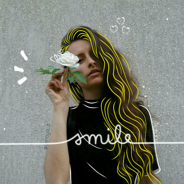 Imagem original 👉https://picsart.com/i/266759032007202  👉@denitsapavlova 💖   #cute#madewithpicsart #girl #people #flowers #rose#yellow #outline #beautiful #iloveit #smile