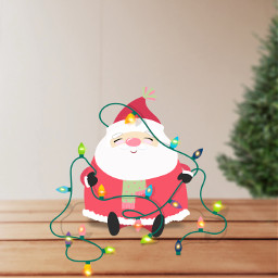 freetoedit santa christmaslights tree table