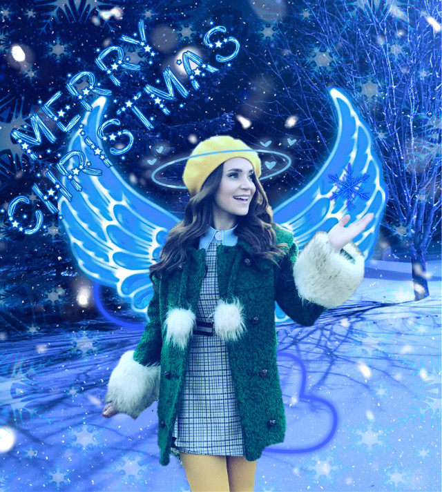 Rosanna the blue angel #rosanna #rosannapansino #pansino #nerdynummies #Ro #blue #blueangel #christmas #snow #etn #escapethenight #freetoedit