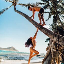 hawaii beach bikini love couple freetoedit