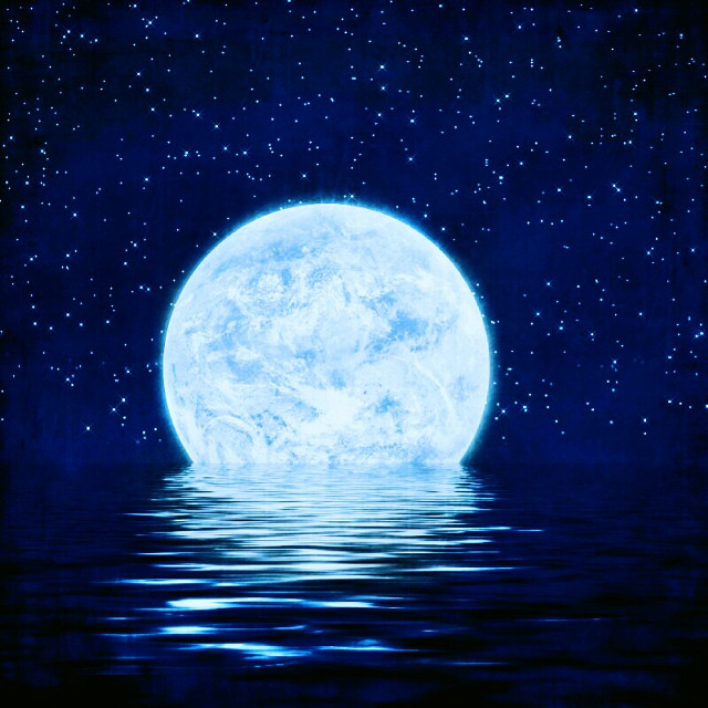 #foredit#moon#sea#blue#light#background#wallpaper