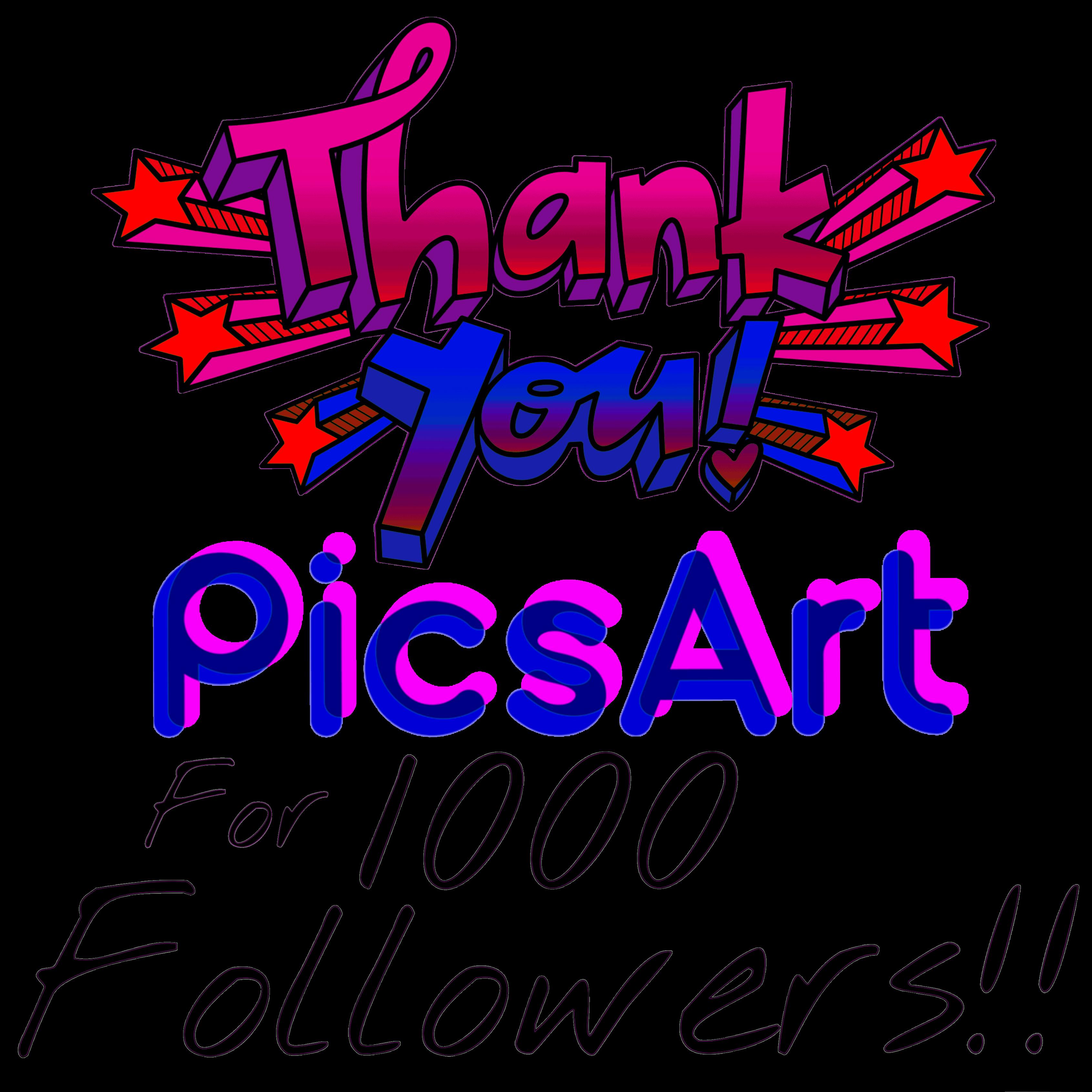 Thankyou Picsart 1000 Sticker By Christy Newton