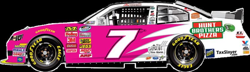 nascar 7 car racecar pink freetoedit