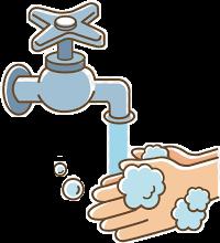 #agua  wash hands