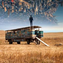 freetoedit city manipulation art surreal