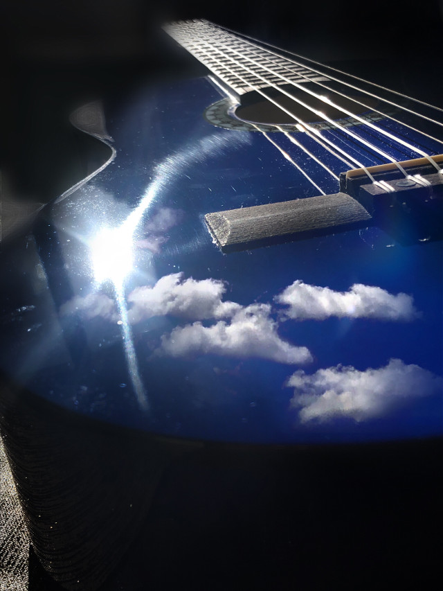 #freetoedit #interesting #music #madewithpicsart #clouds #photography #guitar     💕💕happy end of week to all 😘😘see you tomorrow ❤️🙆🏻♀️