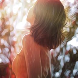 freetoedit woman sunshine warmth nature