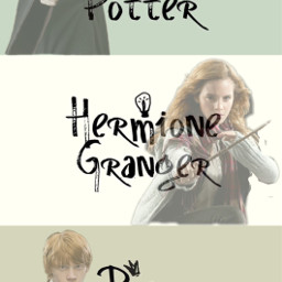 harrypotter theboywholived hermionegranger thebrightestwitchofherage ronweasley freetoedit