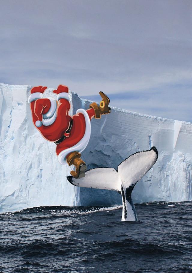 #santa needs a lift.  #freetoedit