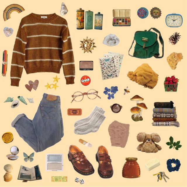 #niche #nichememe #moodboard #orange #yellow #brown #fashion #clothes #vintage #freetoedit