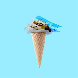 freetoedit icecream dream cloud blue