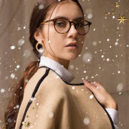 girl newbrushes winter snow stars freetoedit
