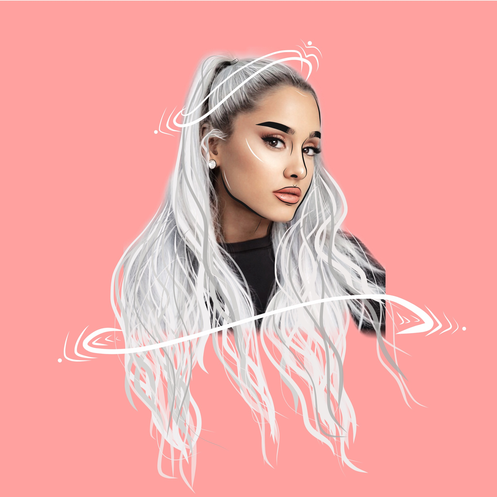 Ariana Grande? #freetoedit #arianagrande #arianagrandeedit #leaelui #lorengray #outline #outlineedit #outlinedit #arianators