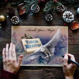 freetoedit christmasart fantasyart fantasy makebelieve ircchristmascard