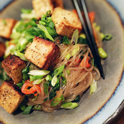 noodles stirfry tofu vegan plantbased