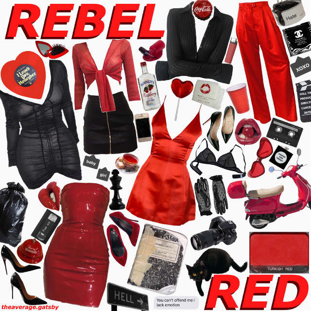 #freetoedit #rebel #red #rebelred #color #redlips #outfit #rebelious