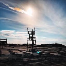 tower lifeguard abandoned desolate beach pcthebestplace pcfromwhereistand pcdaylight daylight gloomyweather