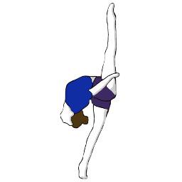 artsy flexable dance gymnastics photo