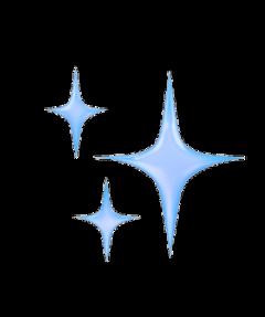 sparkle sparklemoji glitter emoji blue