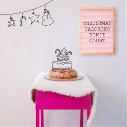 cake christmastime christmas humor doodle freetoedit