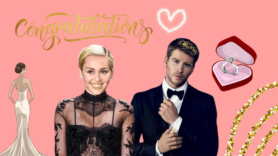 #freetoedit 👉🏼 #Congratulations #MileyCyrus #LiamHemsworth #Marriage ❤️ @pa