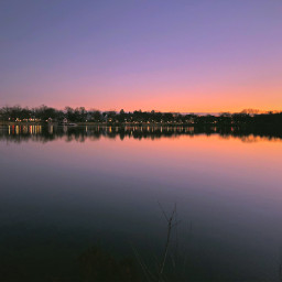 freetoedit sunset winter reflection lake