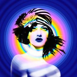 freetoedit rainbow lady circle twilightzone