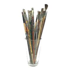aesthetic art artsupplies paintbrushes warm