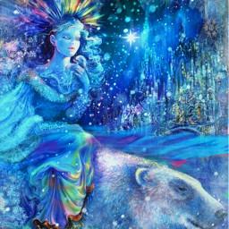 freetoedit winterblues northernnights polarlights icelandicbeauty