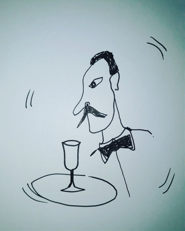 #freetoedit #waiter #drinks #restaurant #bar #drawing #bowtie #glass #tray #moustache #expression #artist #toon #toons #design #designer #animator #animation #artist #artistic #draw #todraw #sketch #fineart #cartoons #abstaction #artiste #art #modernart #modernartist #cartoonist #cartoon