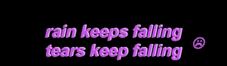 rain tear tears fall falling sad purple tumblr sadface