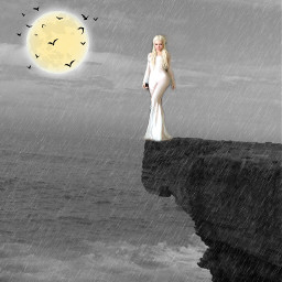freetoedit moon birds mystical lady