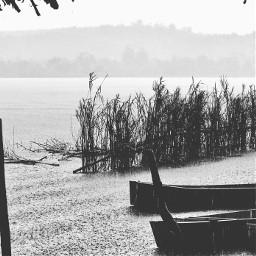 blackandwhite picsartphoto madagascar lake canoe