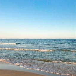 pcintonature beautifulmorning beachscenery nature calmwaves freetoedit