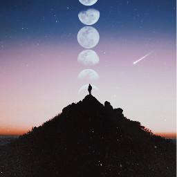 moon mooncycle shootingstar art photography freetoedit