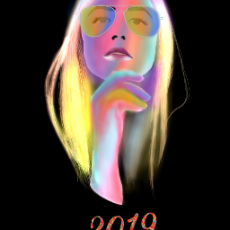 freetoedit girl draw mydrawing colorful 2019 newyear