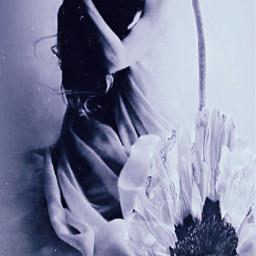 flowercrown lady sad flower flowers freetoedit