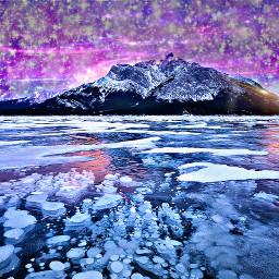 freetoedit galaxy mountains stars coldoutside