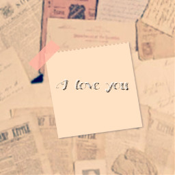 love i iloveyou you paper