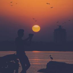 freetoedit vipshoutout thewonderfulworldofpa keepitsimple123 sunrisesilhouettes picsart madewithpicsart freetoedit