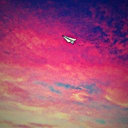 ircsky sky airplane sunset freetoedit