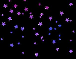 star stars pink blue purple freetoedit