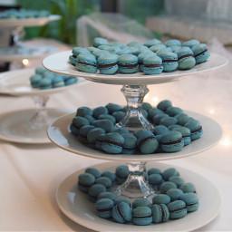 blue freetoedit maccarons yummy event