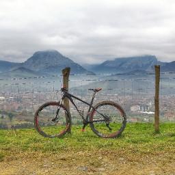 mountainbike bike mountains landscape freetoedit