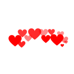 heart hearts red pink crown freetoedit