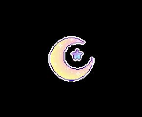 moon kawaii tumblr pixel colorful freetoedit